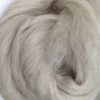 NEW! Ashland Bay Undyed Blueface Leicester (BFL) and Tussah Silk Roving
