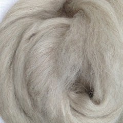 Ashland Bay Undyed Blueface Leicester (BFL) and Tussah Silk Roving