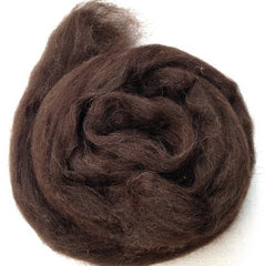 Foxglove Black Welsh Roving
