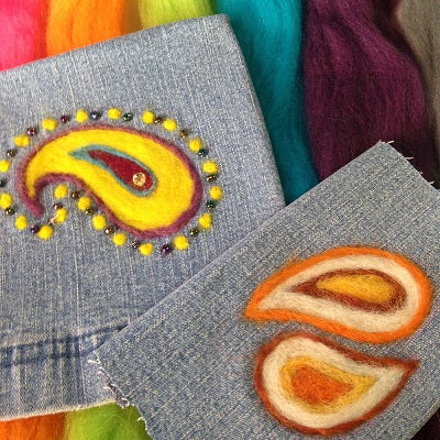 CLASS 19q3 Needle Felting on Denim (cancelled)