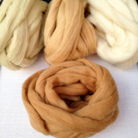 Brookmoore Undyed Cotton Slivers
