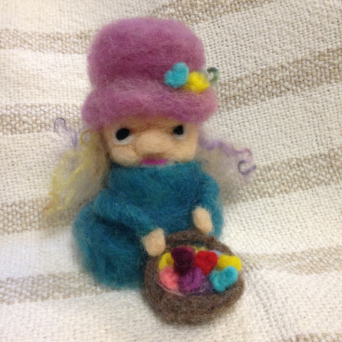 CLASS 20q1 Intro to 3-D Needle Felting- NEW DATE