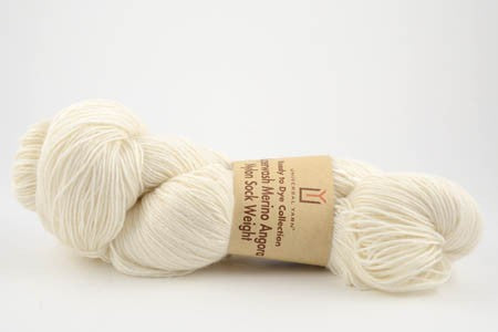 Universal Ready to Dye Merino Angora Nylon Sock