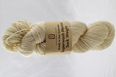 Universal Ready to Dye Superwash Merino Sock