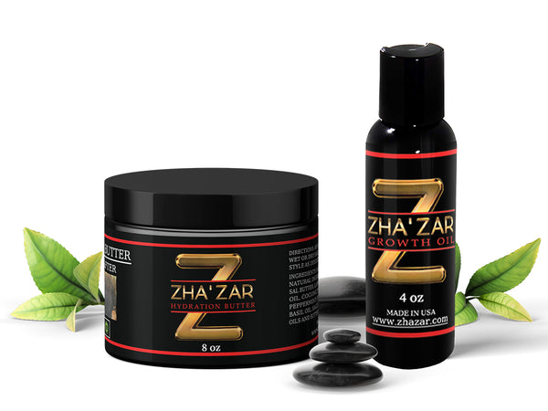 Zhazar Growth Oil and Hydration Butter Combo