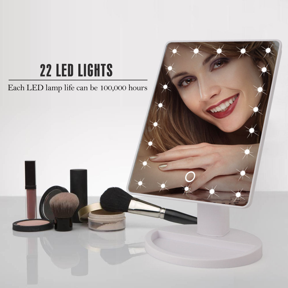22 Led Touch Screen Magnifier Makeup Mirror