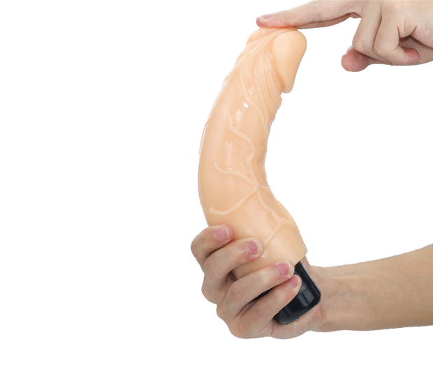 Electric Male Dildo Sex Toy Medical-Grade Soft Silicone Vibrator Dildo with Strong Suction Cup