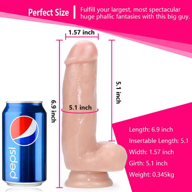 6.9'' Super Soft  Big Cock Silicone Realistic Classic Dildo For Women