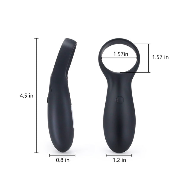 "4.5"" Silicone USB Remote Control Lock Fine Ring 10 Frequency Vibration Penis Ring Vibrator For Male"
