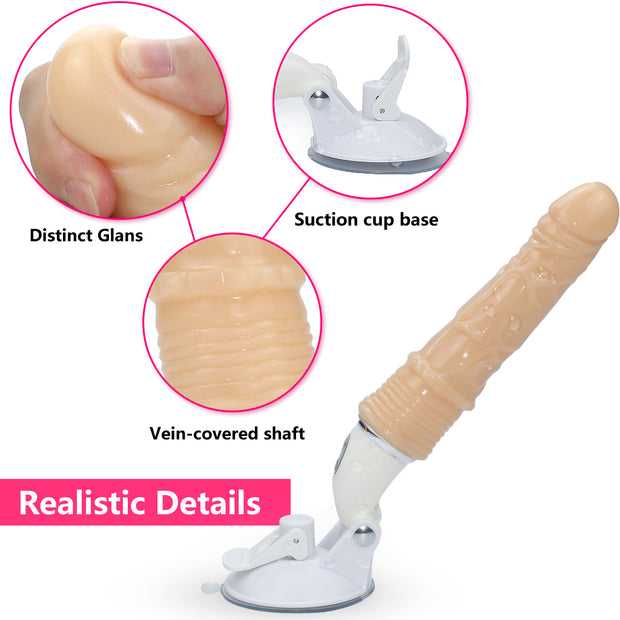 Electric Dildo Toys Medical-Grade Soft Silicone Vibrator Dildos with Strong Suction Cup