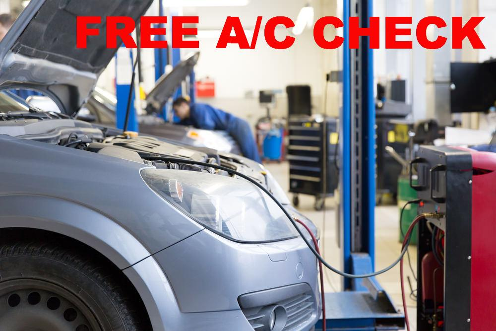 A/C EVAC AND RECHARGE w/ FREE A/C CHECK
