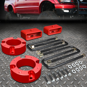 "2007-2018 TOYOTA TUNDRA 2/4WD RED 3""F+2""R SPACERS+BLOCKS LEVELING LIFT KIT"