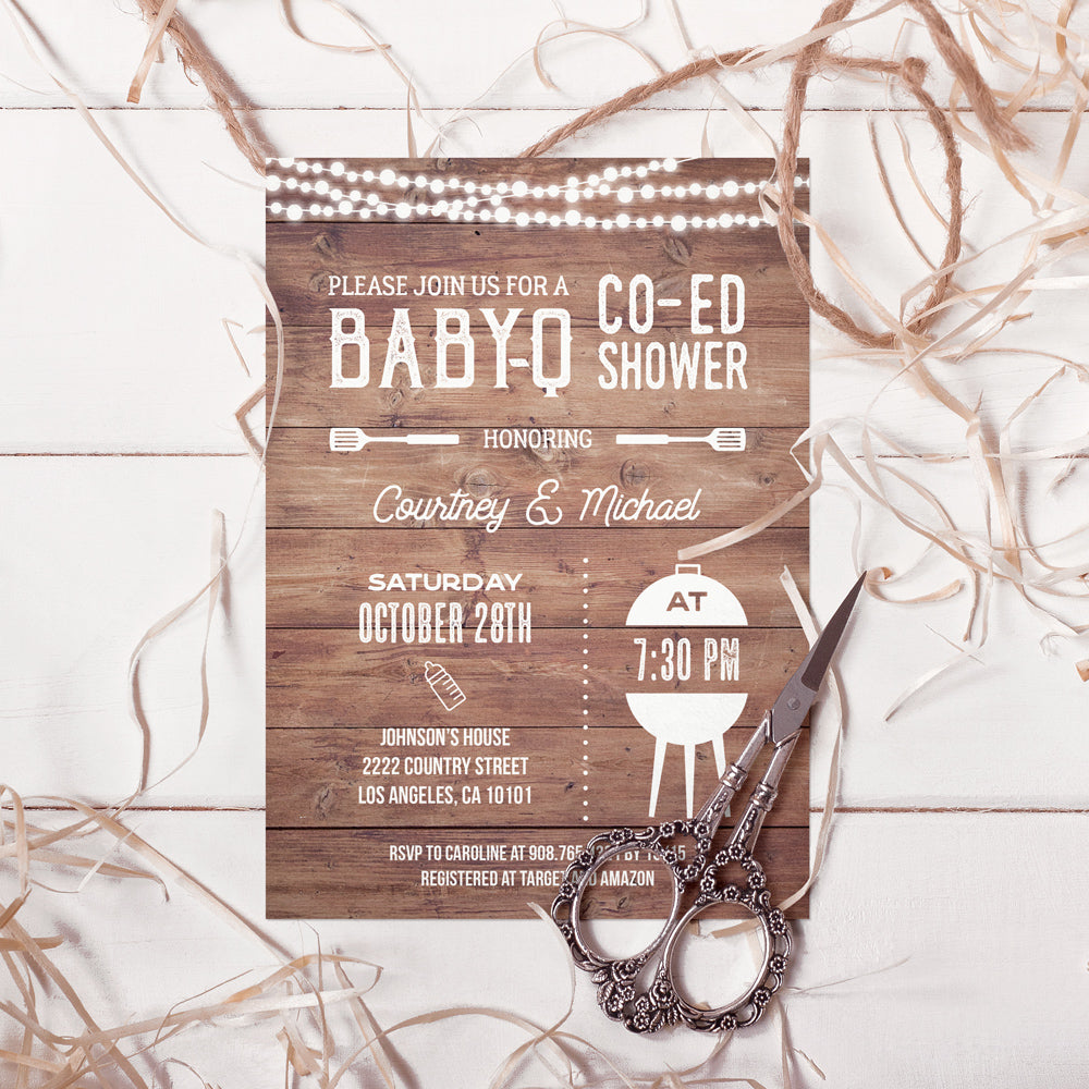 photo relating to Baby Shower Printable Invitations named BBQ Child Shower Printable Invitation