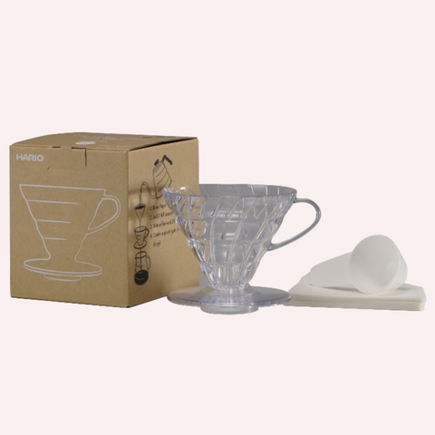 Hario V60 Clear Coffee Dripper with Paper Filters