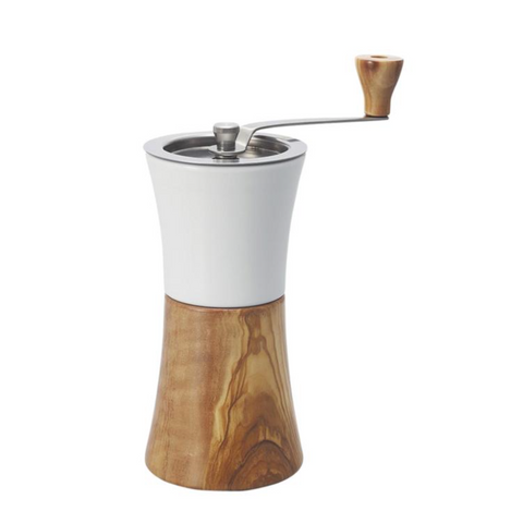Hario Ceramic Coffee Mill - Olive Wood
