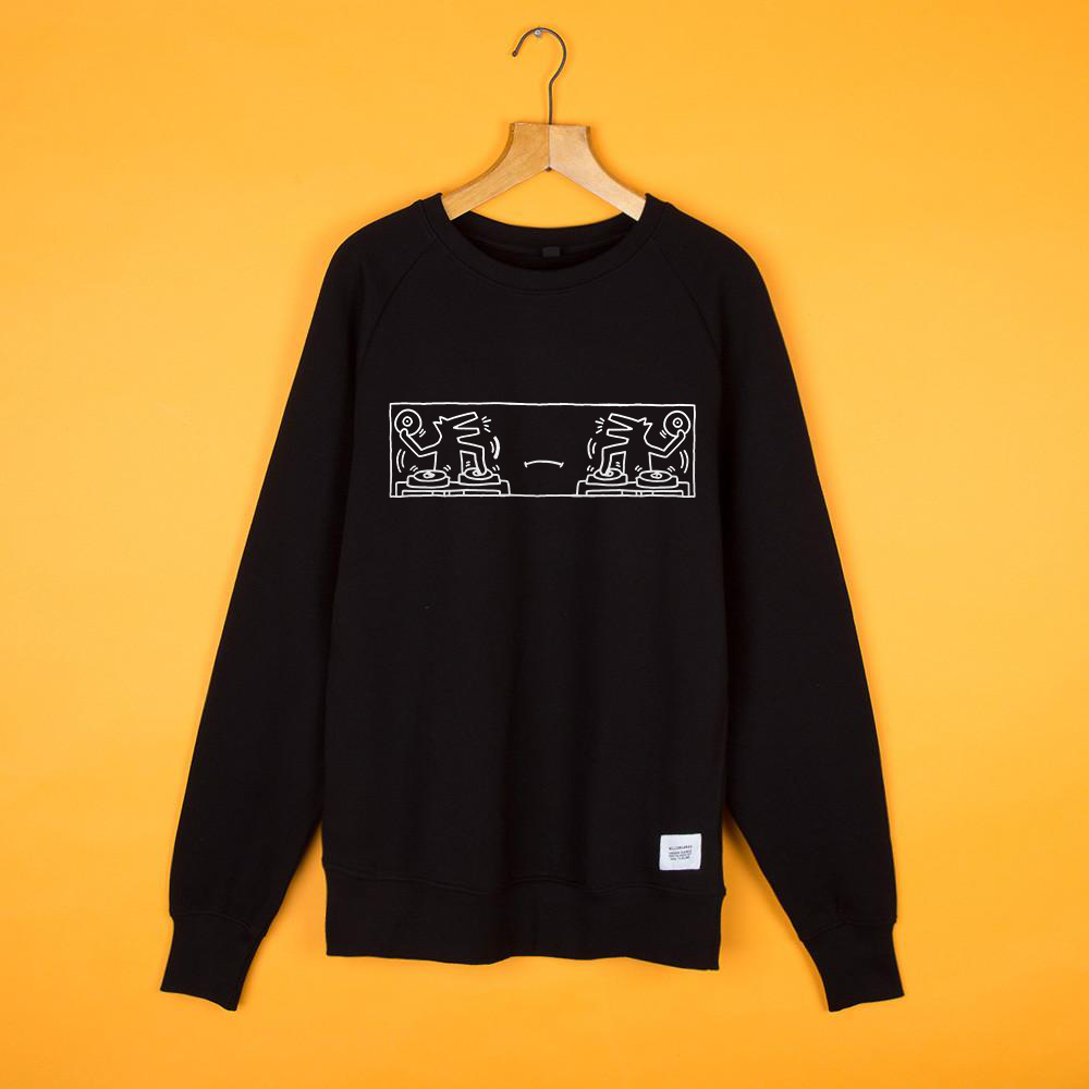 #SociallyDistant B2B Mono Black Sweat