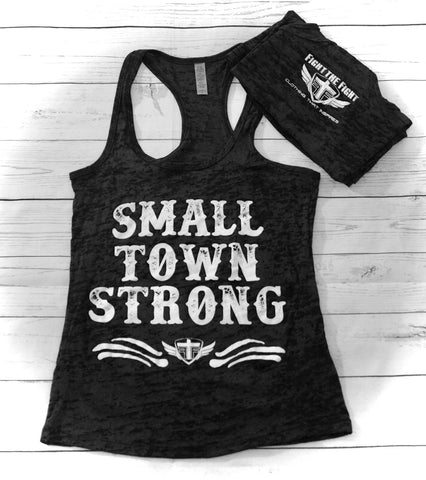 Small Town Strong Burnout Tank