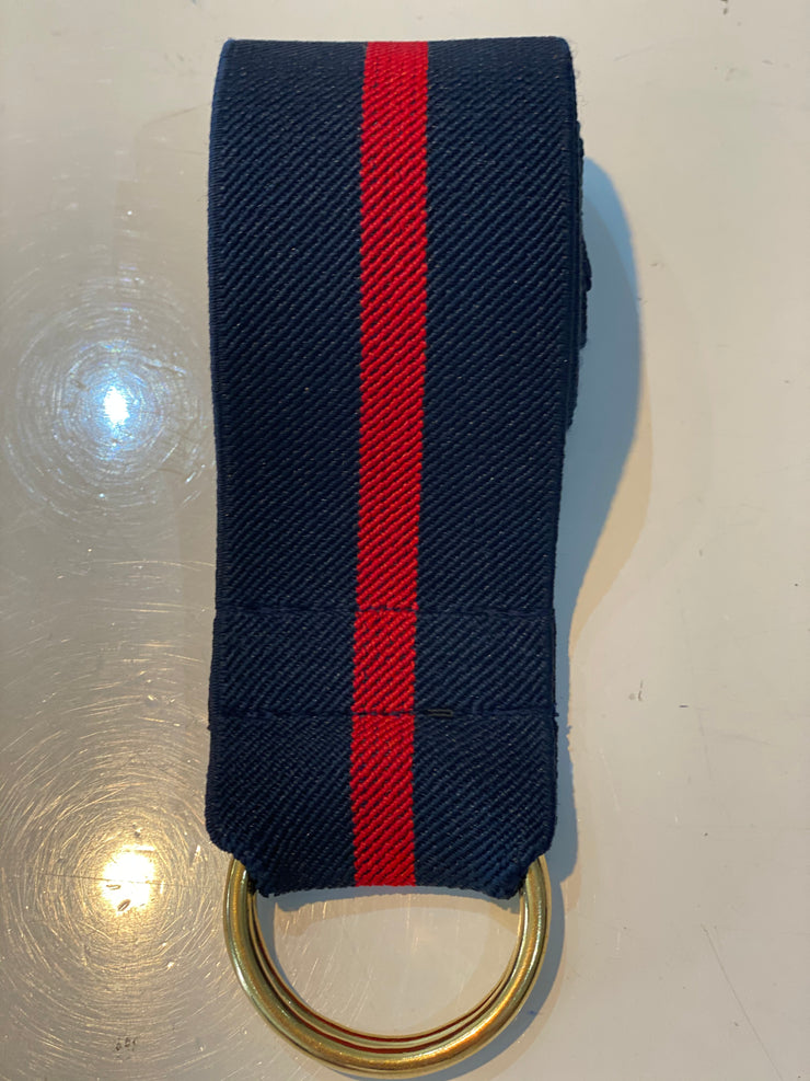 KALI LABEL NAVY/RED SPORTSLUXE D BELT