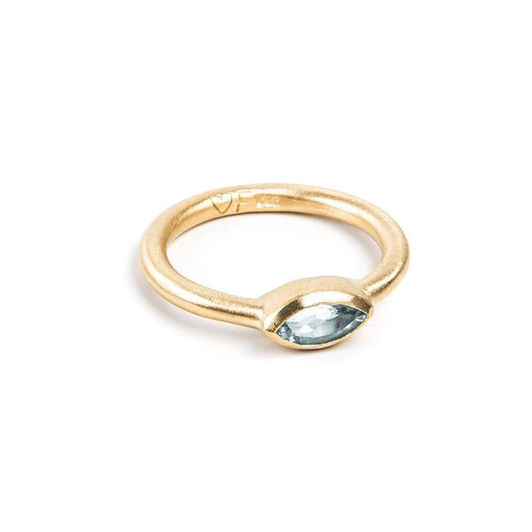 Love Fairley Samara Aquamarine Stacker Ring