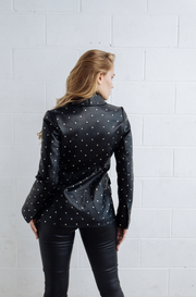 DEA STUDDED WILLOW LEATHER BLAZER
