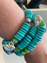 THE WANTED EVIL EYE WRIST TURQUOISE TWISTS