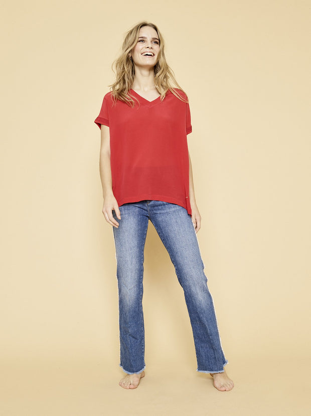 Mos Mosh Rococco Belle Silk Tee Red