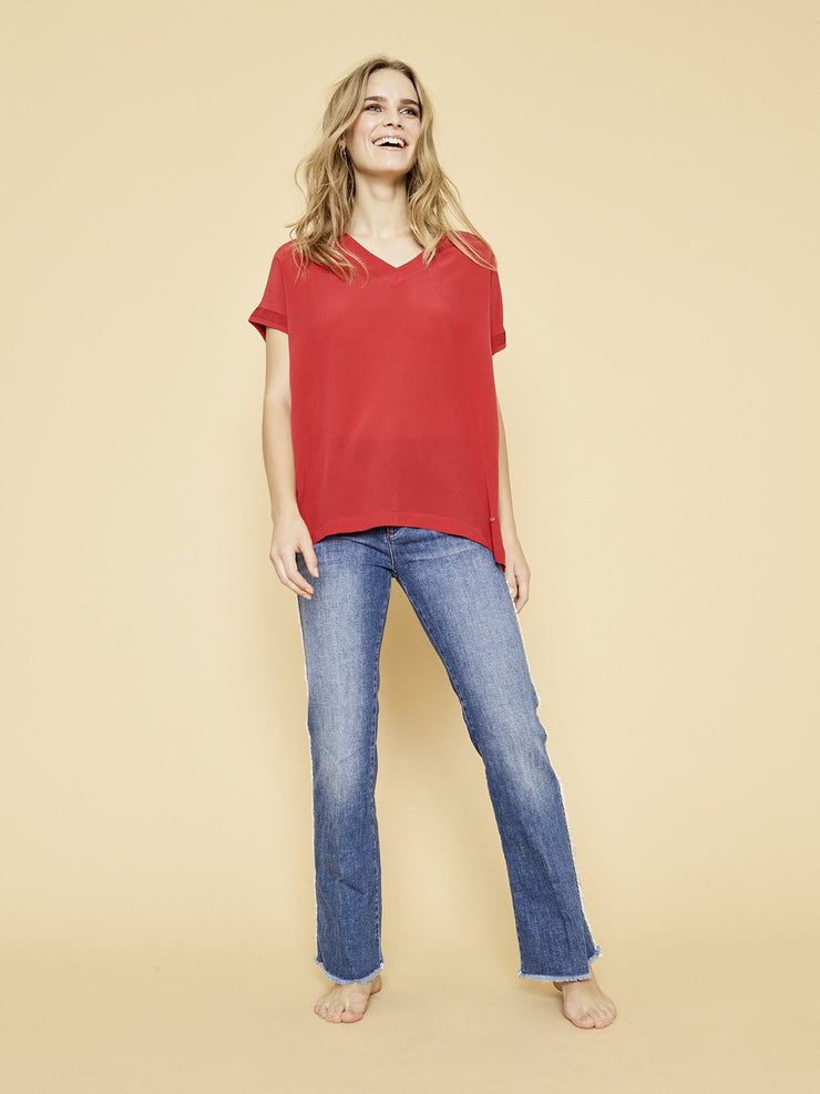 Mos Mosh Rococco Belle Tee Red