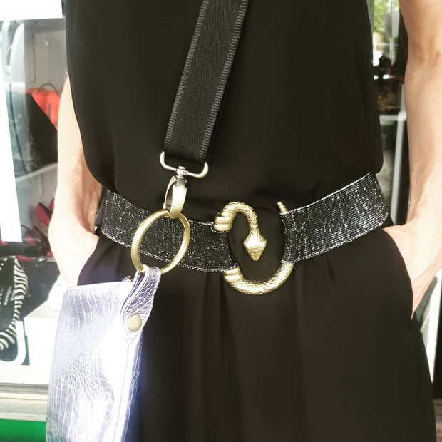 Kali Label Elasticated Python Belt
