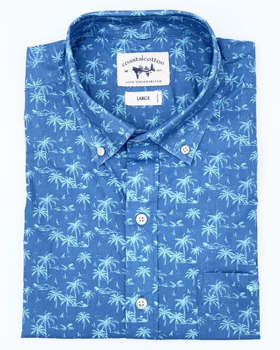 Infinity Tropical Print Sport Shirt