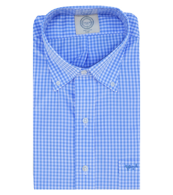 Coastal Cotton Clothing - Wovens - Blue Gingham Sport Shirt