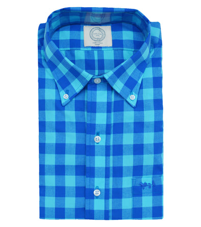 Coastal Cotton Clothing - Wovens - Turquoise Blue Sport Shirt
