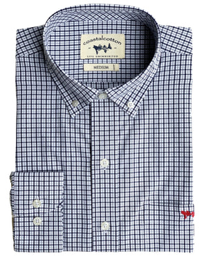 Black Plaid Sport Shirts
