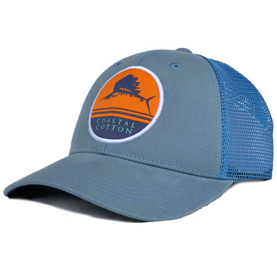 Coastal Cotton Clothing -  - Blue Sailfish Structured Trucker