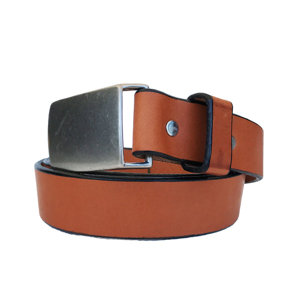 Coastal Cotton Clothing - American Made Belts - Camel Flat Buckle Belt