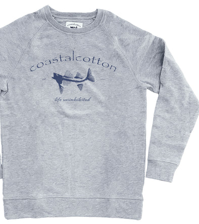 Cement Crew Neck Sweatshirt Printed
