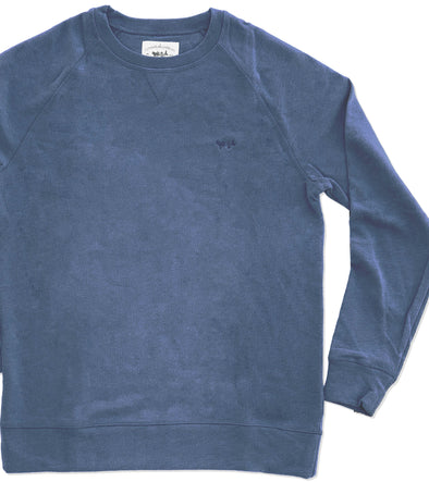Stone Blue Embroidered Sweatshirt