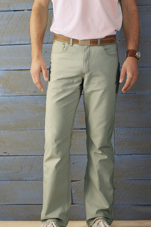 Coastal Cotton Clothing - FIve Pocket Pants - Olive Five Pocket