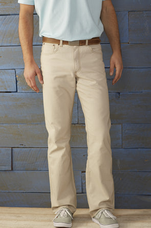 Coastal Cotton Clothing - FIve Pocket Pants - Sand Five Pocket