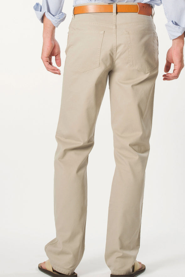 Tan Canvas 5 Pocket Pant