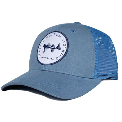 College Blue Structured Trucker