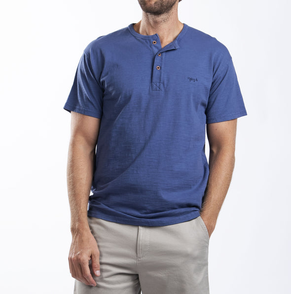 Marlin Garment Dye Short Sleeve Henley