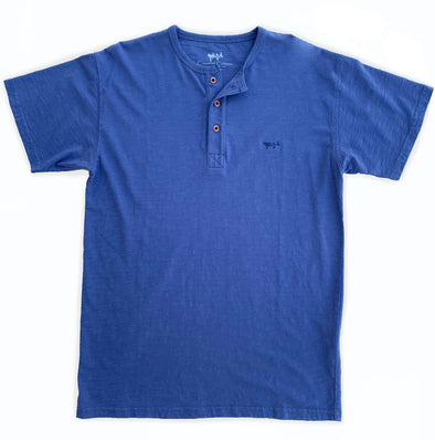 Garment Dye Short Sleeve Henley Marlin