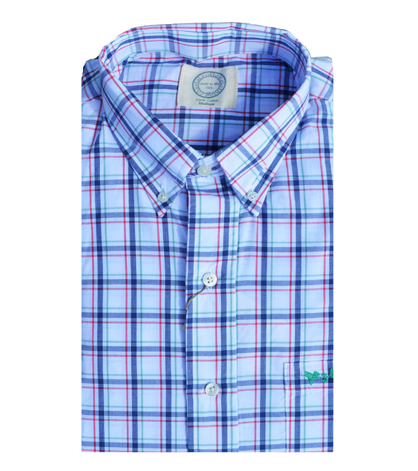 Coastal Cotton Clothing - Wovens - Indigo Check