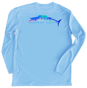 Maui Blue Performance Tee Long Sleeve