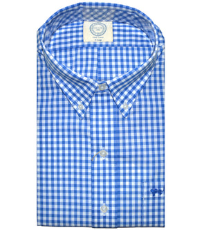 Coastal Cotton Clothing - Wovens - Nautical Blue Gingham
