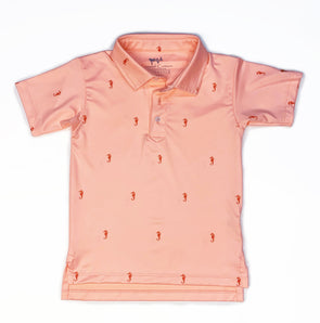Youth Neon Seahorse Performance Polo