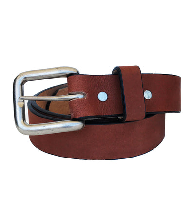 Coastal Cotton Clothing - American Made Belts - Classic Pecan Leather Belt