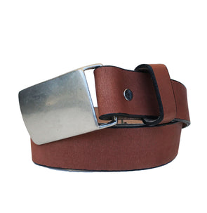 Coastal Cotton Clothing - American Made Belts - Pecan Flat Buckle Belt