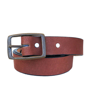 Coastal Cotton Clothing - American Made Belts - Pecan Vintage Buckle Belt