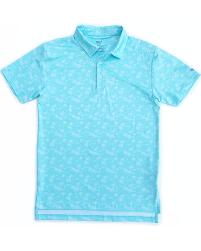 Aqua Palms Performance Polo
